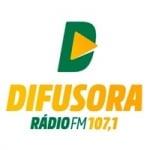 Logo da emissora Rádio Difusora 107.1 FM