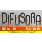 Logo da emissora Rádio Difusora 1470 AM