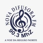 Logo da emissora Rádio Difusora 90.3 FM