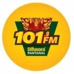 Logo da emissora Rádio Difusora Pantanal 101.9 FM