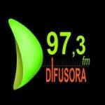 Logo da emissora Rádio Difusora 97.3 FM