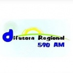 Logo da emissora Rádio Difusora Regional 590 AM