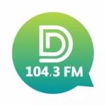 Logo da emissora Rádio Difusora 104.3 FM