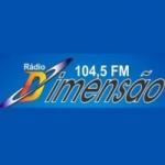 Logo da emissora Rádio FM Dimensão 104.5 FM