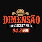 Logo da emissora Rádio FM Dimensão 94.3 FM