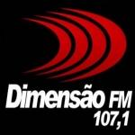 Logo da emissora Rádio Dimensão 107.1 FM