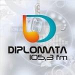 Logo da emissora Rádio Diplomata 105.3 FM