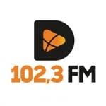 Logo da emissora Rádio Divi 102.3 FM