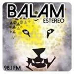 Logo da emissora Radio Balam Estereo 98.1 FM
