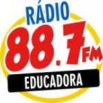 Logo da emissora Rádio Educadora 88.7 FM