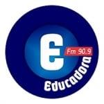 Logo da emissora Rádio Educadora 90.9 FM