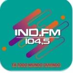 Logo da emissora Rádio Ind 104.5 FM