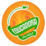 Logo da emissora Rádio Educadora Santana 100.7 FM