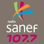 Logo da emissora Sanef 107.7 FM