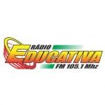 Logo da emissora Rádio Educativa 105.7 FM