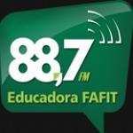 Logo da emissora Rádio Educadora Fafit 88.7 FM