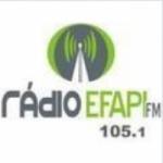 Logo da emissora Rádio Efapi 105.1 FM