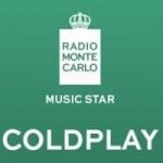 Logo da emissora Radio Monte Carlo Music Star Coldplay