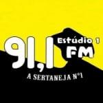 Logo da emissora Rádio Estúdio 1 91.1 FM