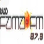 Logo da emissora Rádio Fama 87.9 FM