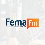 Logo da emissora Rádio Fema 106.3 FM