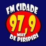 Logo da emissora Rádio FM Cidade 97.9 FM