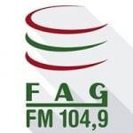 Logo da emissora Rádio FAG 104.9 FM