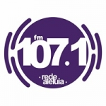 Logo da emissora Rádio Rede Aleluia 107.1 FM