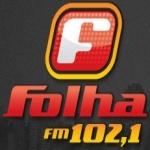 Logo da emissora Rádio Folha 102.1 FM