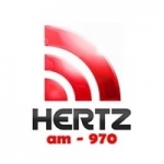 Logo da emissora Rádio Hertz 970 AM