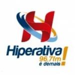 Logo da emissora Rádio Hiperativa 96.7 FM