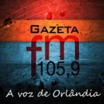 Logo da emissora Rádio Gazeta 105.9 FM
