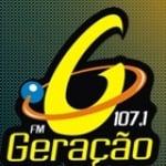 Logo da emissora Rádio Geração 107.1 FM