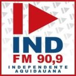 Logo da emissora Rádio Independente 90.9 FM