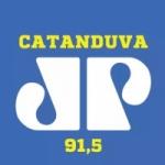 Logo da emissora Rádio Jovem Pan 91.5 FM