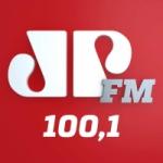 Logo da emissora Rádio Jovempan 100.1 FM