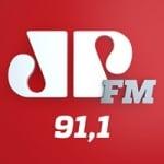 Logo da emissora Rádio Jovempan 91.1 FM