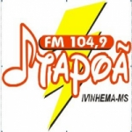 Logo da emissora Rádio Itapoã 104.9 FM