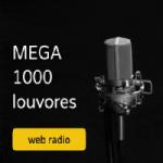 Logo da emissora Rádio Mega 1000 Louvores