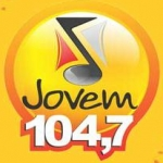 Logo da emissora Rádio Jovem Palmas 104.7 FM