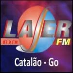 Logo da emissora Rádio Laser 87.9 FM