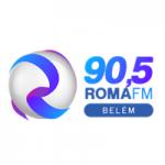 Logo da emissora Rádio Roma 90.5