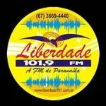 Logo da emissora Rádio Liberdade 101 FM