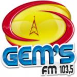 Logo da emissora Rádio Gems 103.5 FM