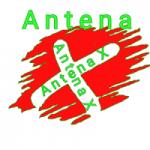 Logo da emissora Rádio Antena X