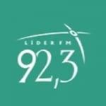 Logo da emissora Rádio Líder 92.3 FM