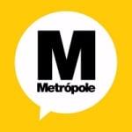 Logo da emissora Rádio Metrópole 1290 AM 101.3 FM
