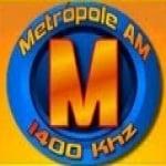 Logo da emissora Rádio Metrópole 1400 AM