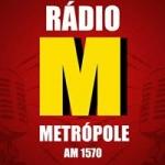 Logo da emissora Rádio Metrópole 1570 AM