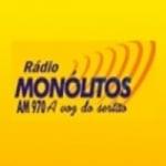 Logo da emissora Rádio Monólitos 970 AM